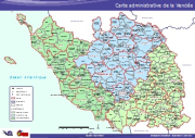Carte PDF - Ancienne carte  administrative de la Vendée.