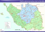Carte PDF - Carte  administrative de la Vendée.